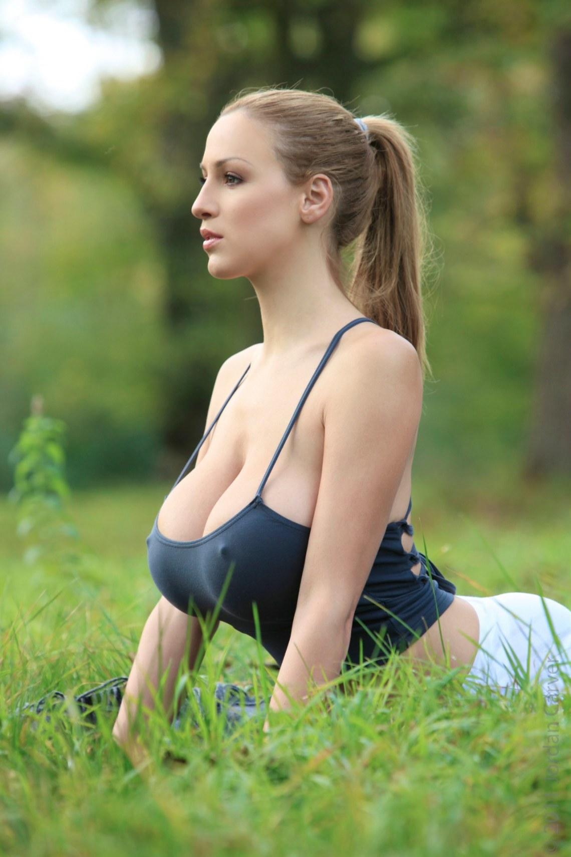 jordan carver yoga 2 Blouse With Big Bow