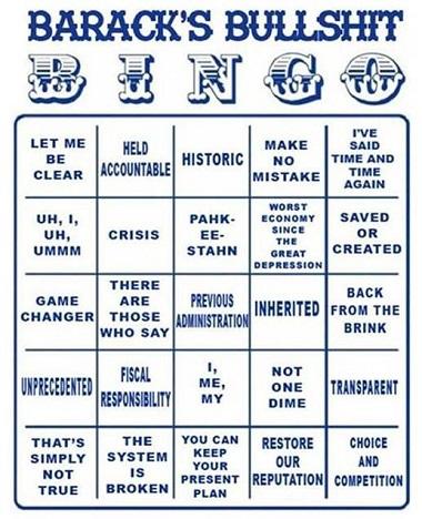 Obozos Bingoism The Texas Scribbler